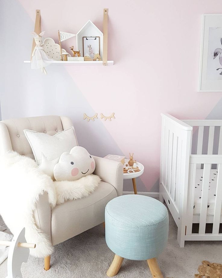 Lovely Pastel Colors In This Baby Nursery
