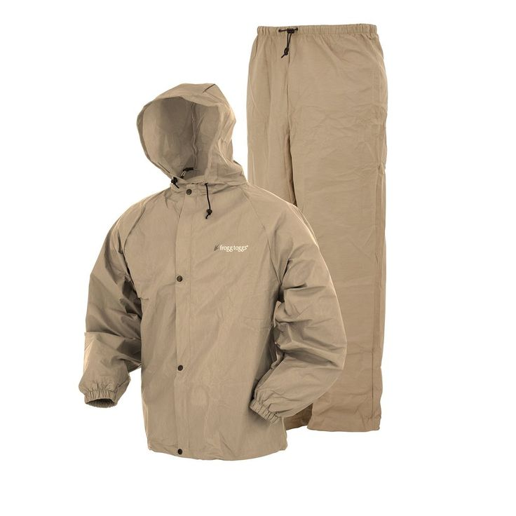 Frogg Toggs Pro Lite Rain Suit, Medium/Large, Khaki