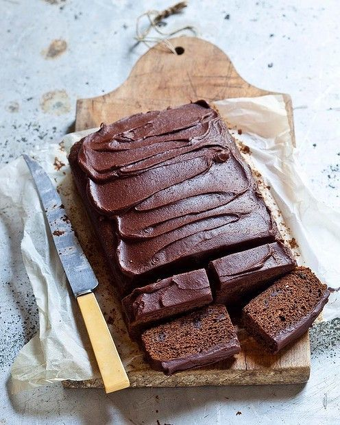 sticky chocolate gingerbread.