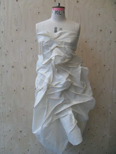 Draping On The Stand Manipulated Fabric Draped On A