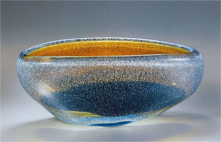 "Lubomir Blecha, the glass bowl ""Heaven-born Galaxy"", glasswork Skrdlovice, 1963, M: 9,9 x 24,0 cm, Czechoslovakia"