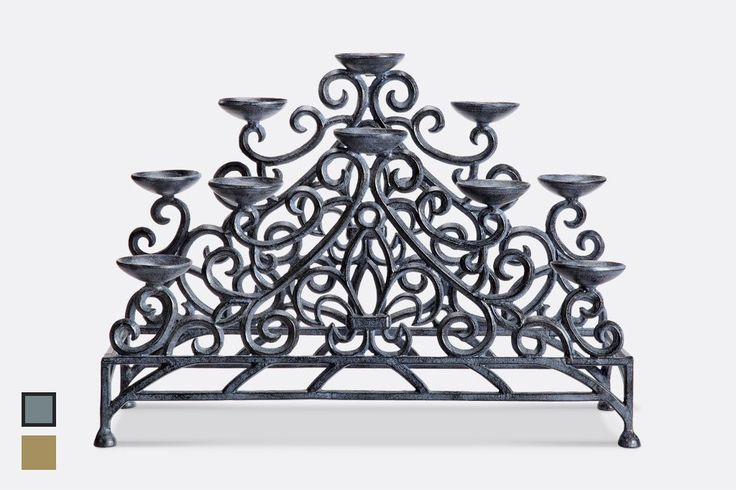 Stylized Fleur de Lys Fireplace Candelabra