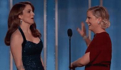 New party member! Tags: amy poehler tina fey high five golden globes monologue