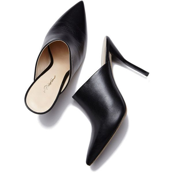 High Heel Mule ❤ liked on Polyvore featuring shoes, high heel shoes, stiletto shoes, sexy shoes, black mules and slingback shoes