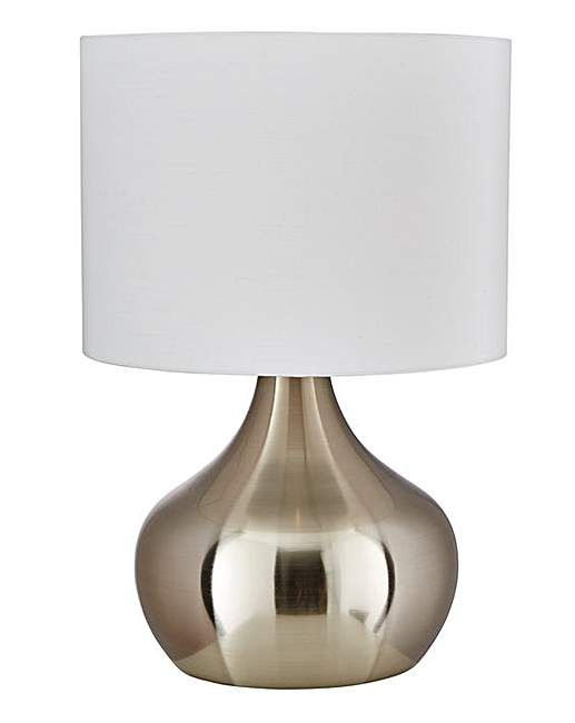 Adele touch table lamp brushed chrome j d williams