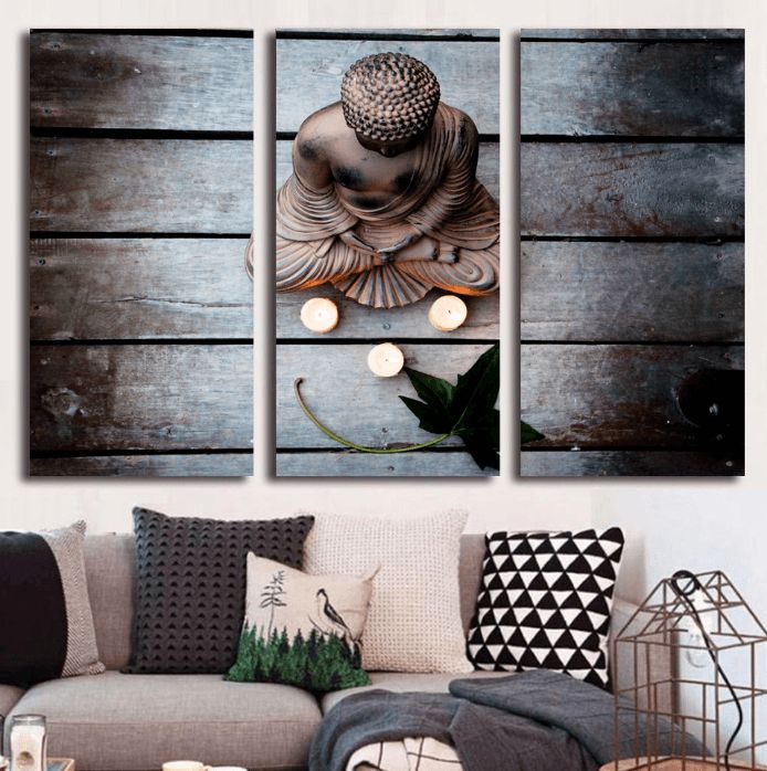 Style Your Home Today With This Amazing 3 Panel Modern Zen Buddha Framed Wall Canvas For $146.00  Discover more canvas selection here http://www.octotreasures.com  If you want to create a customized canvas by printing your own pictures or photos, please contact us.