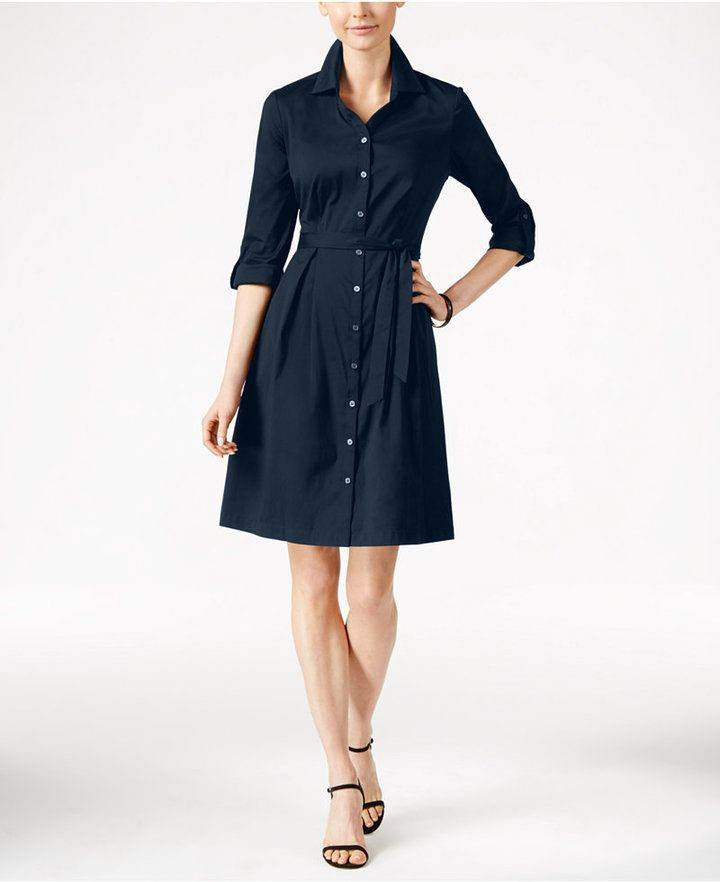 Charter Club Fit & Flare Shirtdress, Only at Macy's This is perfect for the office!!!