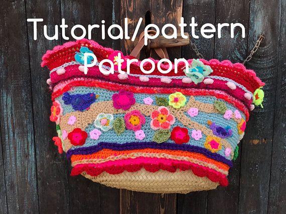 NL/UK/US tutorial crochet pattern bag tas haakpatroon gehaakte