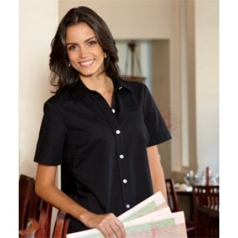 FS038 Dickies Ladies' Short-Sleeve Stretch Poplin Shirt. Buy at wholesale price.