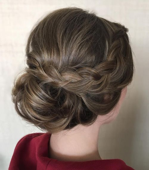 Soft And Romantic Upstyle With Dutch Braid Side Detail I