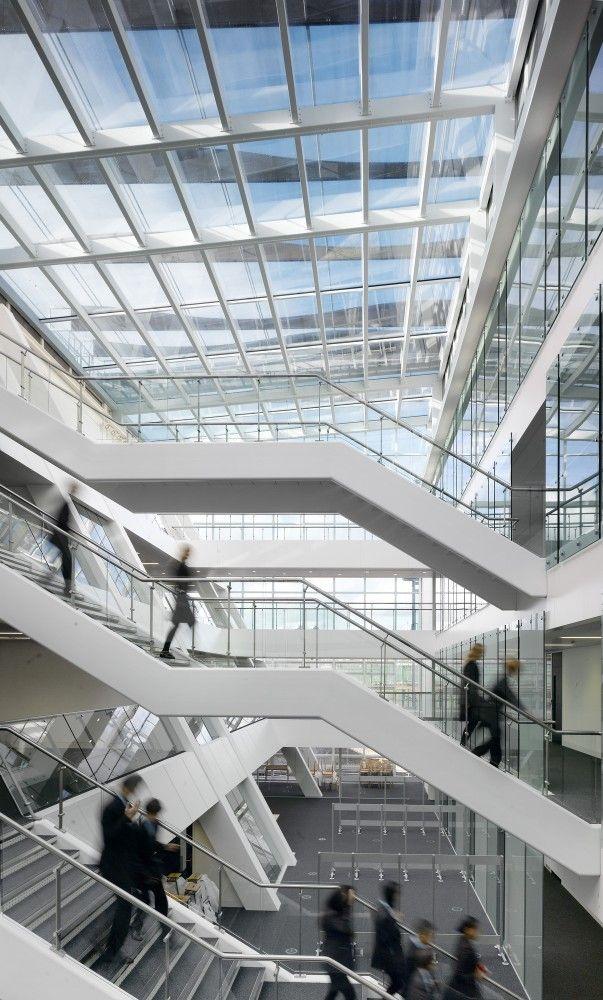 Holland Park School | Aedas | London, UK, Glass Atrium, Planet Partitioning