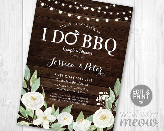 i do bbq invitation couples shower printable invite engagement etsy printable invitations bbq invitation couple shower pinterest