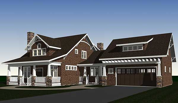 Garage bungalows craftsman house dream house for Bungalow plans with garage