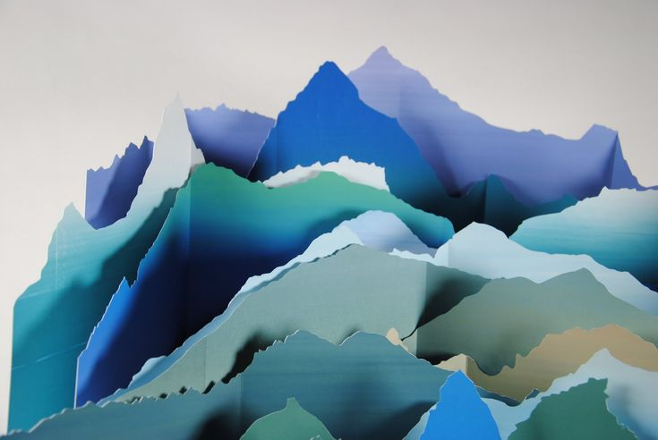 Komagata - gescheurd papier landschap.