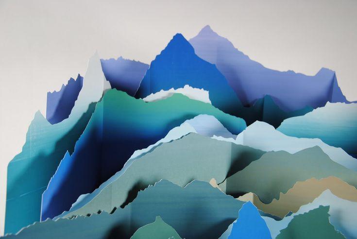 komagata: torn paper landscape | repin