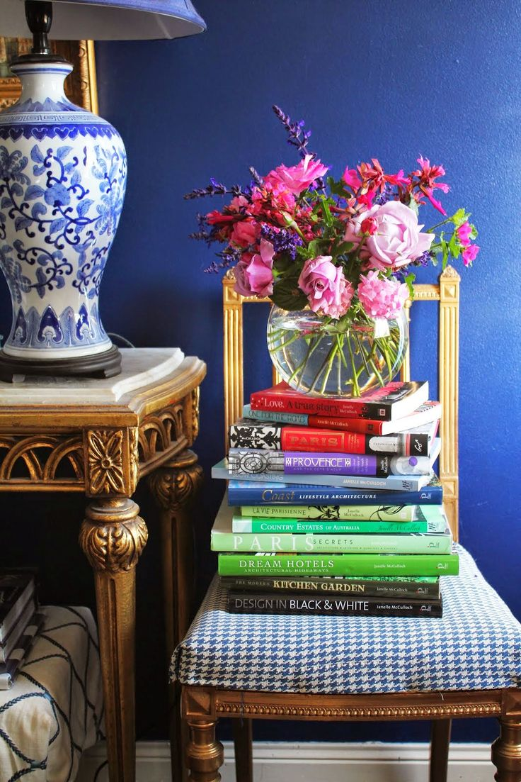 Brightlydecoratedlife Tip As Oscar Wilde Said With Books Flowers