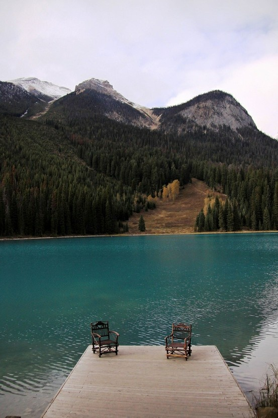 Emerald Lake dock, Yoho National Park, Canada