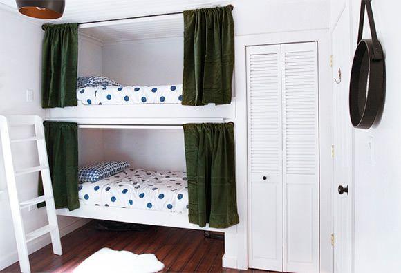 simple cabin bunks (via sarah sherman samuel of smitten studio)