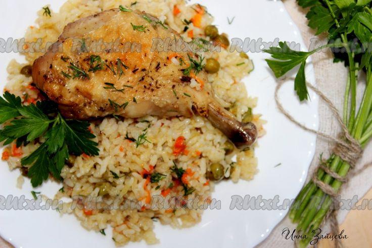 Ленивый рис с курицей в духовке