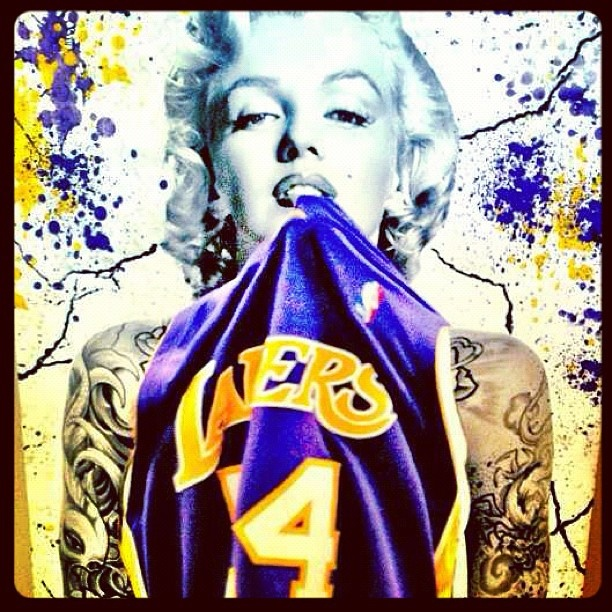 on sale dc67c dce26 Ghetto Marilyn Monroe Lakers Related Keywords & Suggestions ...
