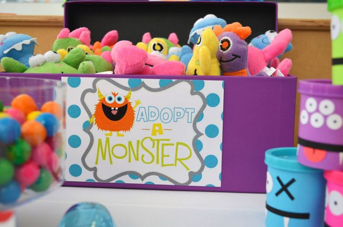 Adopt a monster! Colorful Monster 1st Birthday