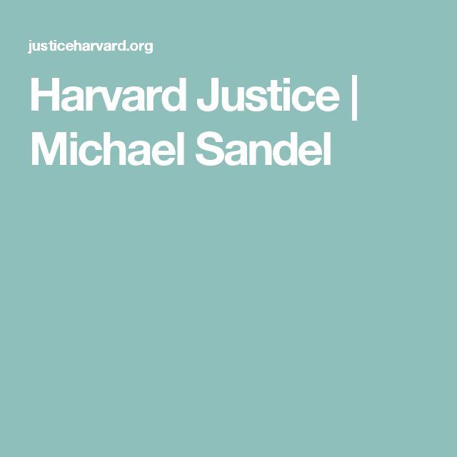 Harvard Justice   Michael Sandel
