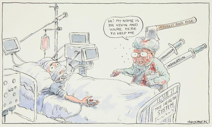 Hi! My name is Dr Kevin, John Spooner, 6 March 2010. Original drawing for published cartoon, The Age.