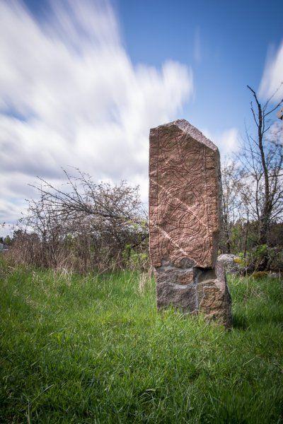 Runestone, Törnby, Färingsö, Sweden. Runsten.