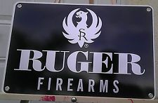 RUGER Fire Arms Sign Hunting Sport Aluminum Collectible Advertising Memorabilia