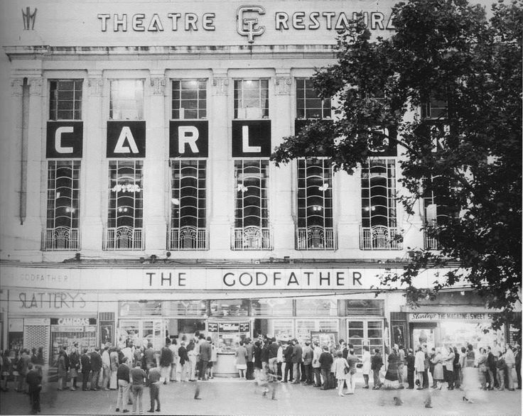 The Carlton, O'Connell Street. The cinema opened on 16 April 1938 with the first film, The Awful Truth. It was built on the site of the first Carlton Cinema (1915–1936). There was seating for 1,500 in the stalls and 500 in the circle. In 1956, the cinema held the European premiere of Rock Around the Clock and it played to packed houses for three weeks. Currently vacant.