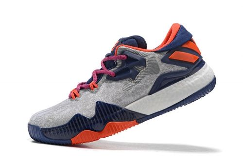 d7baf7d33c46 2018 Cheapest Crazylight Boost Adidas Low White Navy Blue Gym Red ...