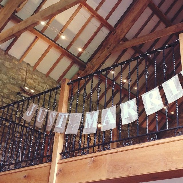 Too long to fit it all on the picture but here's the bunting I made for my brother's wedding yesterday. So pleased with how it turned out - and that I spelt it correctly! #justmarried #handmadewedding #handmade #bunting #burlap #pristonmill
