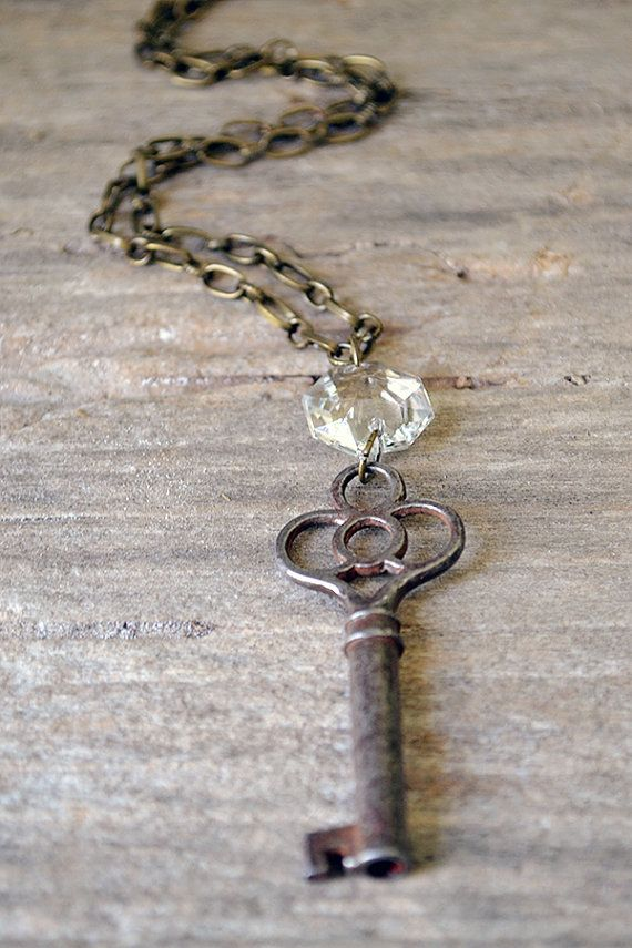 The Princess Key  Vintage Skeleton Key Necklace  by Keytiques
