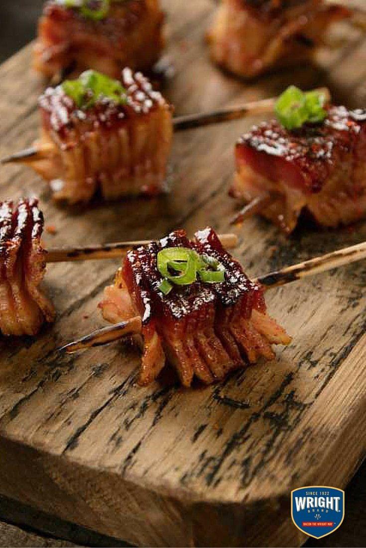 Steak-Cut Heritage Cured Bacon Lollipops @WrightBacon