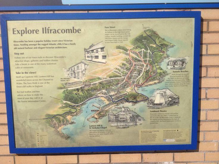 Explore #Ilfracombe #NDevon #NorthDevon #North_Devon #Devon #map