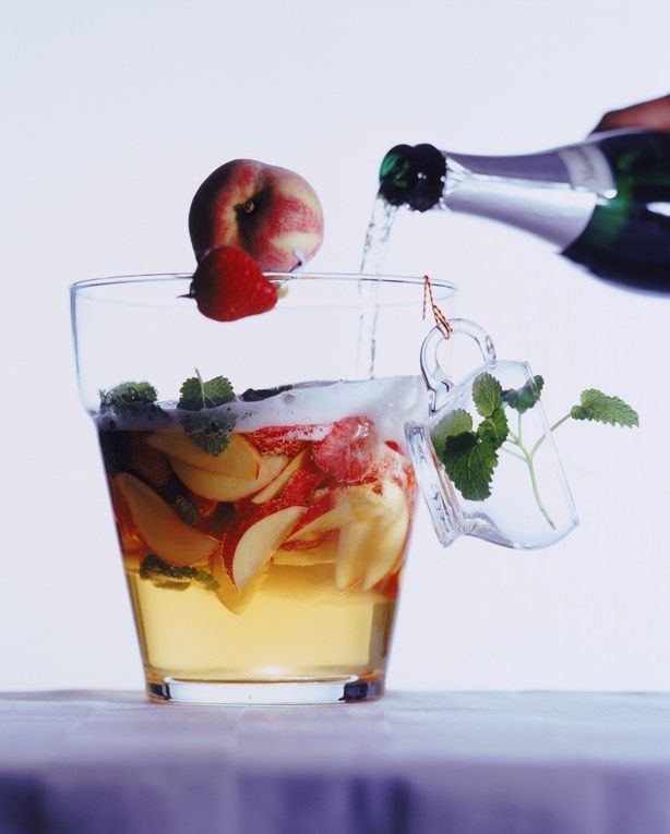 Cocktail Pêches Champagne