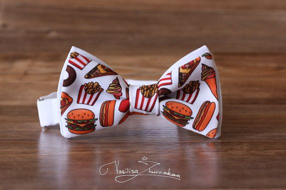 Pizza Fast Food Bow tie  Bowtie Creative by FavoriteAccessories