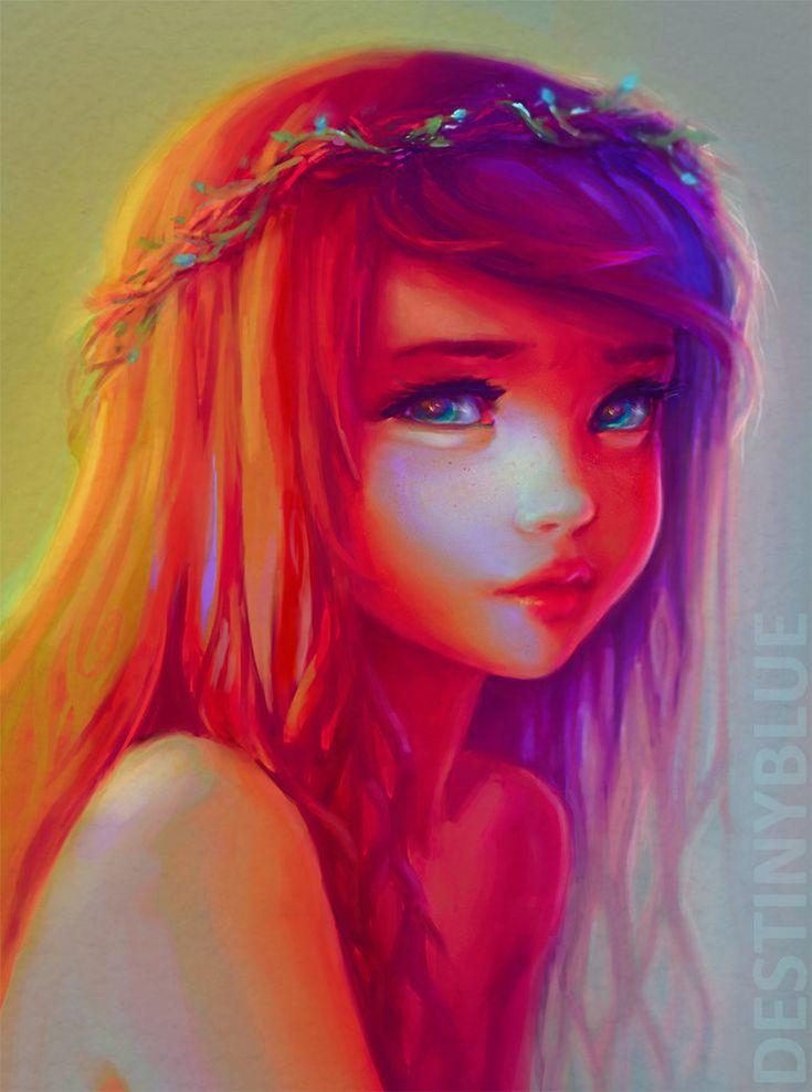 Digital art: little roots by DestinyBlue on DeviantArt