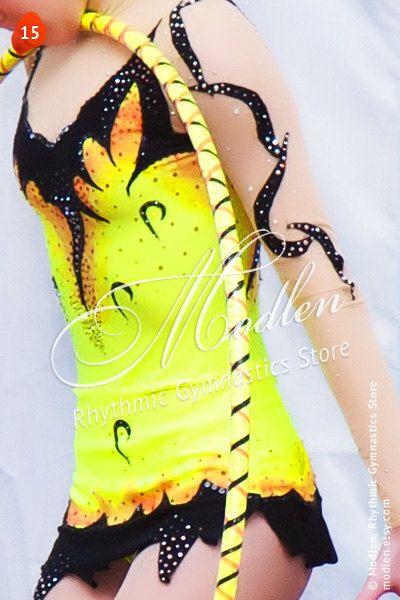 Rhythmic Gymnastics Competition Leotard 15 with by Modlen on Etsy, $169.99