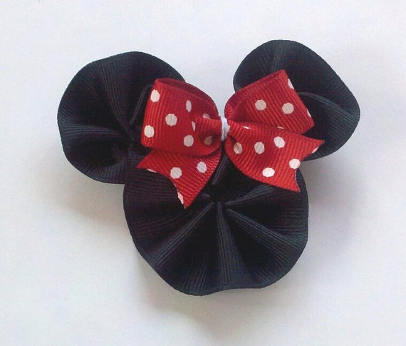 Minnie Mouse Inspired Bow.