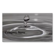Water Drop Business Cards