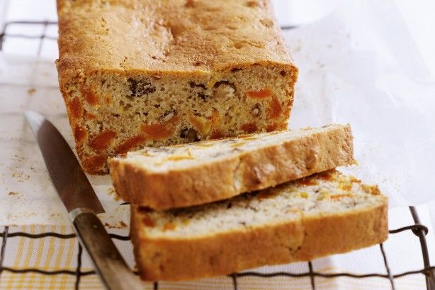 Enjoy the taste of summer year round in this lovely, moist loaf cake with the added walnuts.