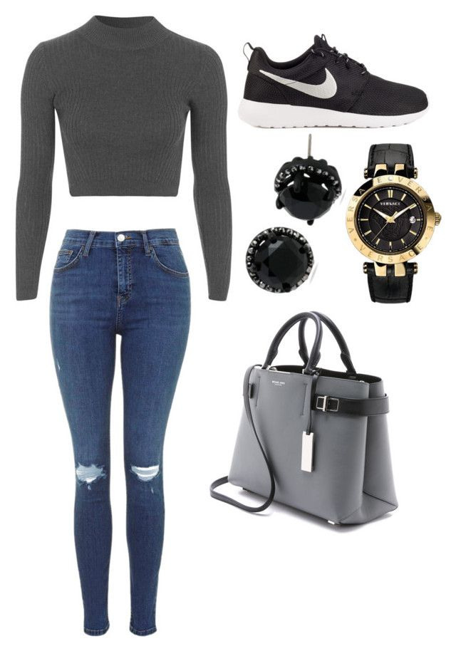 """""""Stroll around the mall"""" by hannahlee01 on Polyvore featuring Topshop, NIKE, Versace, Michael Kors and Betsey Johnson"""