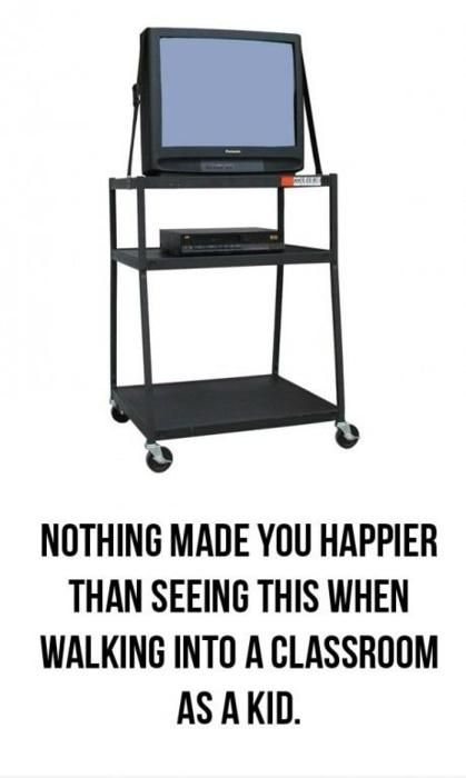 So incredibly true! Elementary school is was awesome to watch a movie