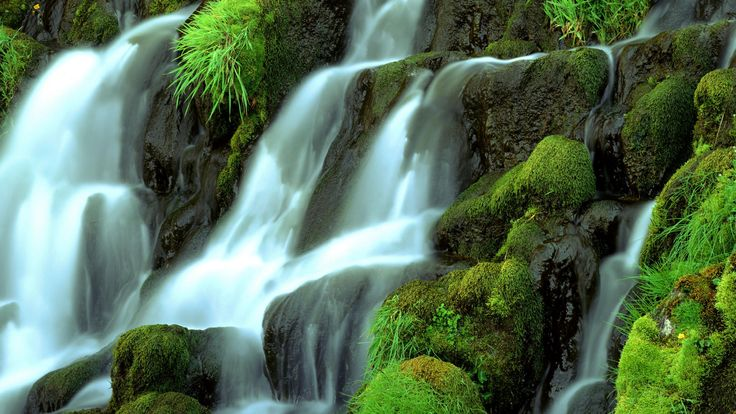 Definition:a waterfall descending over a steep, rocky surface.  Sentence:We came to a halt amongst a cascading river of cups and teapots.