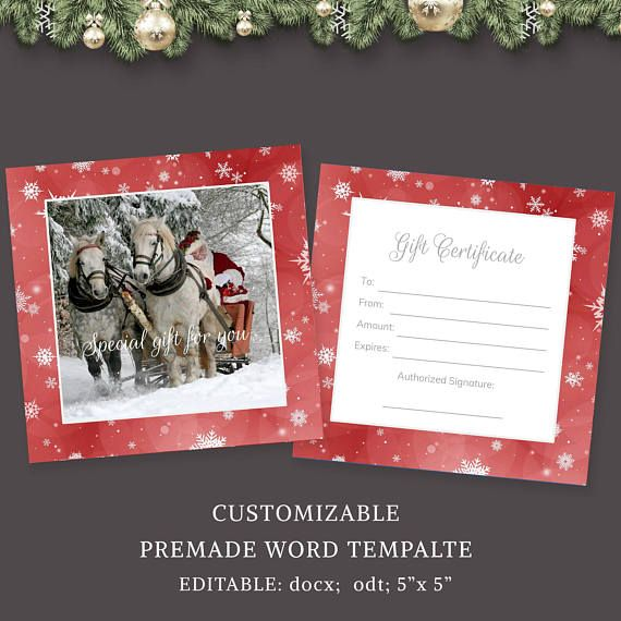 Photography Gift Certificate Template Gift Card Design Gift