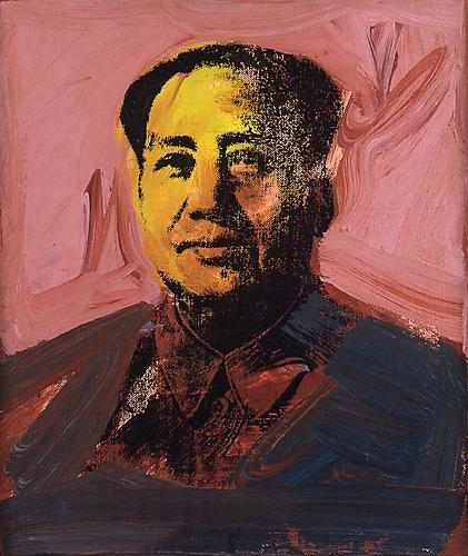 Andy Warhol, Mao, 1973  Synthetic polymer paint and silkscreen ink on canvas  12 x 10 inches; (30.5 x 25.4 cm)