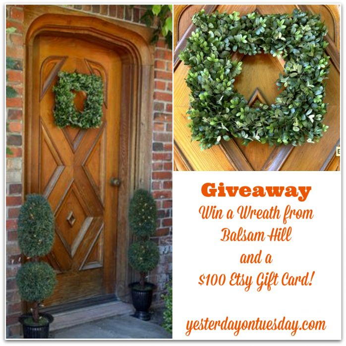 Win a wreath from Balsam Hill and an Etsy gift card for one hundred dollars #balsamhill #celebratemom #celebratelife: Etsy Gifts, Gifts Cards, Gift Cards