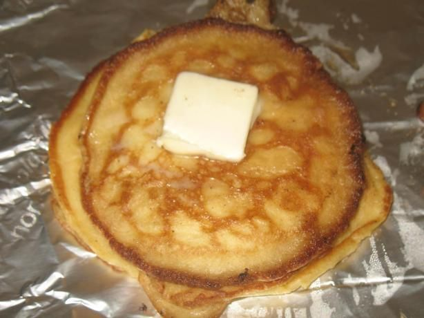 Traditional Swedish Pancakes.  We usually add in vanilla and cinnamon as well :) (and hubby always adds brown sugar)