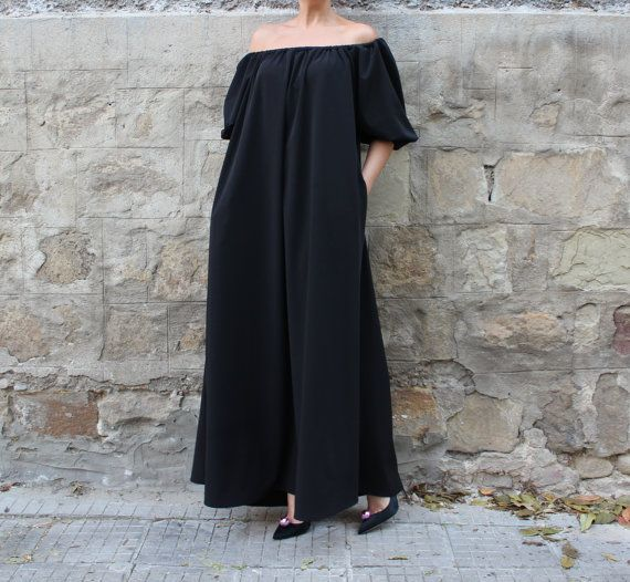 NEW SS16 Maxi Dress Black Maxi dress Plus by cherryblossomsdress